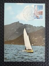 FRANCE MK 1965 AIX-LES-BAINS SEGELBOOT SAILING CARTE MAXIMUM CARD MC c5287