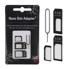 Nano SIM Card to Micro Standard Adapter Adaptor Converter Set For iPhone X XS