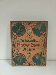 Vintage Rowland Hill Postage Stamp Album with stamps (et)