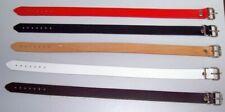 Lederriemen 2,0 x 40,0 in 6 Farben schwarz, rot, weiss, blau, braun, natur lwph