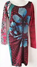 Desigual Ladies Dress 'MELBA MIDNIGHT' Red&Multi, Size XL