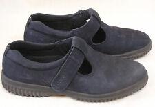 Vintage Pair Women's Ecco Dark Grey Slip Ons Size 37 Made in Portugal