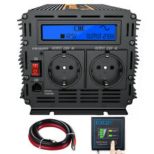 Convertitore 12V 220V 230V Onda Pura Inverter 1000W 2000W trasformatore LCD