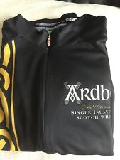 Ardbeg Whisky- from Islay - Cycling Jersey / Top in Black & Ochre-  size Medium