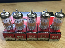 6GQ7 RCA Sleeve of (5) Vacuum Tubes NOS NIB Tested Strong (More Available)