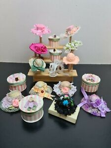 dolls house accessories job lot 16 assorted hat shop items 12th SA1