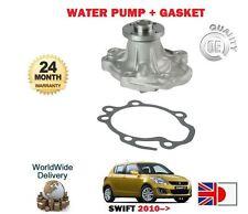 FOR SUZUKI SWIFT 1.2 VVT K12B 2010-> NEW WATER PUMP + GASKET SET