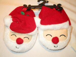 Baby boy & girl Christmas/ Holiday SANTA Slippers. Size 2, infant  New with tags