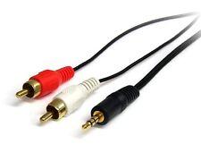 STARTECH .com (3 pied) Stéréo Câble Audio - 3.5MM MÂLE À 2X RCA mâle