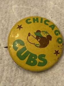 COOL BEANS BLOWOUT: Vintage Chicago Cubs Mascot Pin Button Box 2-31