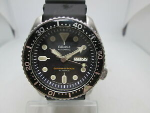 SEIKO 7S26-0020 SKX007 DAYDATE STAINLESS STEEL AUTOMATIC MENS DIVER WATCH