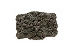 TAMPON BOIS A BATIK ANCIEN TEXTILE INDE NEPAL  NP17C7