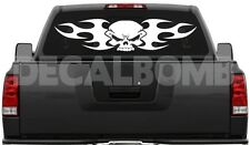 #001 TRIBAL SKULL vinyl decal sticker rzr diesel turbo jeep bones honda 30 X 7""