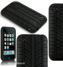 i PHONE Silicone Tyre Tread Skin Case Cover 4 3G & 3GS - FREE POST UK SELLER