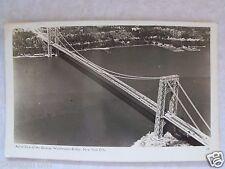 RPPC Aerial View of the George Washington Bridge NYC, N. Y.! Real Photo Postcard