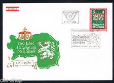 AUSTRIA 1 BUSTA PRIMO GIORNO FDC STEIERMARK 1980