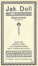 Jak. Doll Eschweiler Painters Masters Art innendeko Historical Advertising 1926