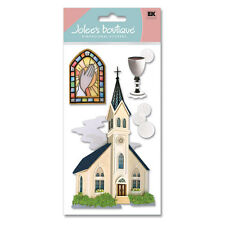 Catholic Church Bible Father Wedding Lent Stained Glass Jolee's 3D Stickers