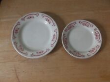 Vintage Homer Laughlin American Rose China Bread Plate and Dessert Plate