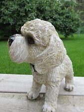 Bichon Frise Bobble Head  Dog Resin Figure Garden Home Decor New Wiggles Car
