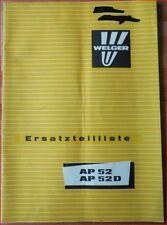Welger Ballenpresse AP52 , AP 52 D Ersatzteilliste