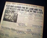 BAR HARBOR Maine ME Summer Colony Mount Desert Island FIRE 1947 Old Newspaper
