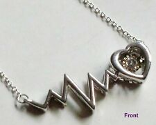 Heartbeat Necklace 1/20 ct Diamond-Accent Sterling Silver Pendant Kay Jewelers