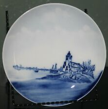 "RXC Delft Rosenthal Bavaria Blue 7"" Plate w/ Church and Sailing Boats"