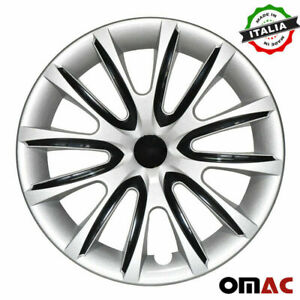 """16"""" Inch Hubcaps Wheel Rim Cover for Mitsubishi Gray with Black Insert 4pcs Set"""