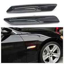 2x Amber LED BMW Black Finish Side Marker Lights Assembly for BMW E90 E92 E60