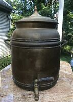 Ethan Allen Signed Vintage Brass Drink Dispenser Samovar Large Oversized