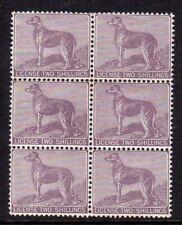Ireland 1882 Dog License (B4) in a fine MNH block x 6