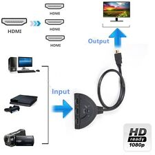 3 in 1 out port Auto HDMI Switcher Splitter Hub Box Adapter 1080p 3D PS3 XBOX