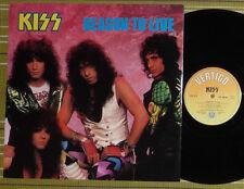 """KISS, REASON TO LIVE, 12"""" EP 1987 UK VERTIGO 1ST PRESS A//1 B//1 EX/EX-"""