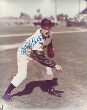 Cleveland Indians Bob Feller autographed 8x10 action color pitching  photo**