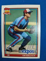 MONTREAL EXPOS AUTOGRAPHED BASEBALL CARD TIM WALLACH