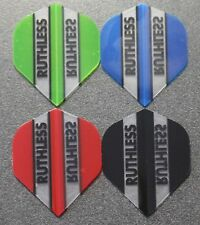 4 Packets of Brand New Ruthless Extra Strong Darts Flights - Starter Pack