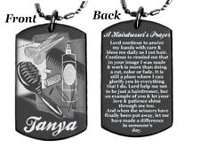 HAIRDRESSER'S PRAYER - Dog tag Necklace or Key chain with FREE ENGRAVING