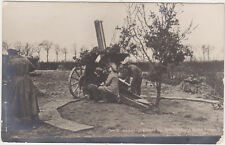 RPPC,Germany,German Soldiers Firing Field Artillery Canon,World War I,c.1914