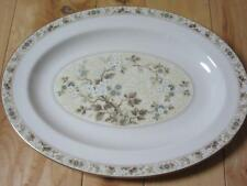 """Royal Doulton Mandalay 13 1/4"""" Oval Serving Platter Tan Brown Blue White Pretty"""