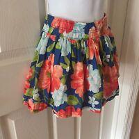 HOLLISTER CALIFORNIA  Multi-Color Floral Mini Skirt Skater Women's Juniors Sz XS