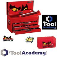 Teng Tools 2019 SALE Tool Kit Red 6 Drawer Toolbox Top Box Tool Chest FREE COVER