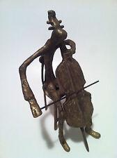 Bronze Cello Player Sculpture Statue Figure Music Gift Orchestra Large