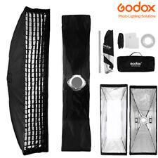 22x90cm Godox Rectangle Bowens Mount Strip Softbox + Grid Fr Studio Strobe Flash