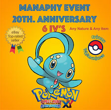 Pokémon ORAS / XY – MANAPHY EVENT POKÉMON 20th ANNIVERSARY 6IV's – ANY NATURE