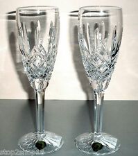 Waterford Araglin Champagne Flutes SET/2 Crystal 5-oz. #6123940400 NEW