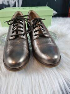 "Ziera Lace-up Leather Shoes ""Zara"", size 39 FF, Bronce colour,"