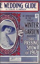 "Shirley Kellogg ""PASSING SHOW OF 1912"" Louis A. Hirsch 1912 Broadway Sheet Music"