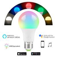 WiFi Smart Light Bulb Dimmable Wake-Up Lights Compatible Alexa & Google Assist Q