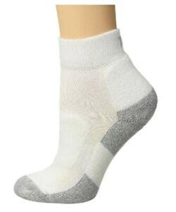 Thorlos 267015 Women's Cushion Walking Mini Crew Socks White Size Medium